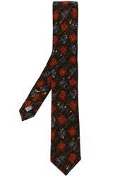 Canali Patterned Tie Red