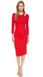 Just Cavalli Essential Shoulder Cutout Dress Fire