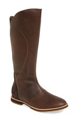 Women's Ahnu 'Helena' Leather Boot Mulch