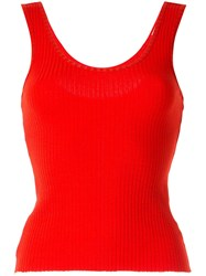 Nobody Denim Luxe Ribbed Tank Top Red