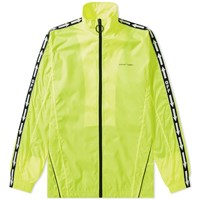 Off White Nylon Taped Track Top Yellow