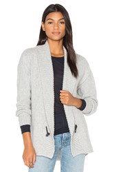 Enza Costa Cocoon Cardigan Light Gray