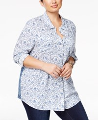 Styleandco. Style Co. Plus Size Printed Blouse Only At Macy's Weekender Floral