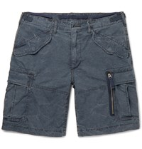 Polo Ralph Lauren Washed Cotton Ripstop Cargo Shorts Navy