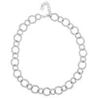 Jools By Jenny Brown Cubic Zirconia Linked Circles Necklace Silver
