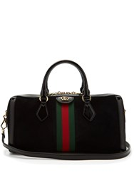 Gucci Ophidia Boston Suede Bowling Bag Black