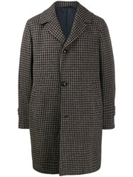 Massimo Piombo Mp Douglas Gingham Patterned Coat Brown