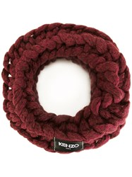 Kenzo 'Stranded' Snood Red