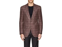 Jack Victor Checked Two Button Sportcoat Rose