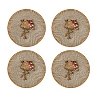 Joanna Buchanan Set Of 4 Coasters Flamingo