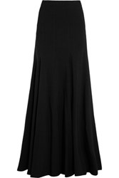 Michael Kors Collection Stretch Wool Blend Maxi Skirt Black