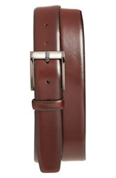 Trafalgar Men's 'Cameron' Belt Burgundy