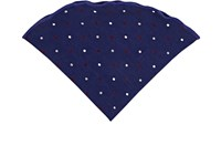 Alexander Olch Polka Dot Wool Pocket Round Blue