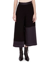 Loewe Topstitched Culotte Trousers Black