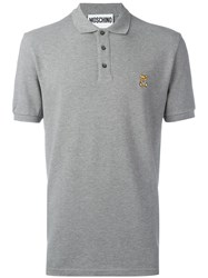 Moschino Bear Logo Polo Shirt Grey