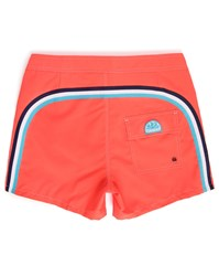 Sundek Fluoro Orange Striped Swim Shorts