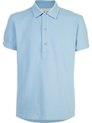 Orlebar Brown Plain Polo Shirt Blue