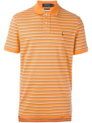 Polo Ralph Lauren Striped Polo Shirt Yellow And Orange