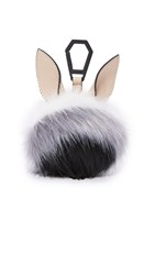 Kendall Kylie Bee Dog Charm Cream Tan White Grey Black