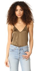 Vince Pleat Neck Cami Olive