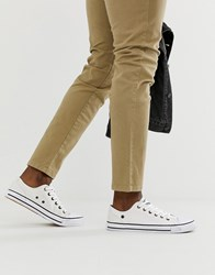 Dunlop Lace Up Plimsolls In White