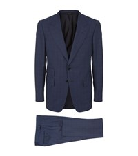 Tom Ford Box Check Shelton Suit Male Blue