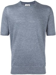 Brunello Cucinelli Crew Neck T Shirt Blue