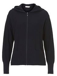 Betty Barclay And Co. Textured Hooded Cardigan Dark Sapphire