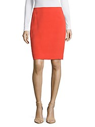 Akris Solid Pencil Skirt Red