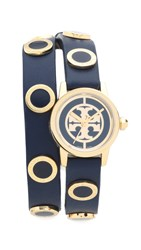 Tory Burch Reva Watch Gold Navy