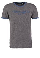 Teddy Smith Ticlass Print Tshirt Anthracite Chine Indigo