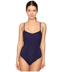 La Perla Plastic Dream One Piece W Wire Navy Blue Women's Swimsuits One Piece