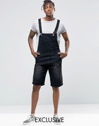 Liquor And Poker Short Overalls Washed Black Black