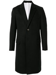 Ck Calvin Klein Cashmere Single Breasted Coat Black
