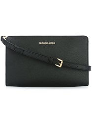Michael Michael Kors Zipped Flat Crossbody Bag Black