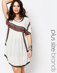 Alice And You Embroidered T Shirt Dress White