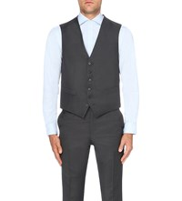 Gieves And Hawkes Single Breasted Wool Waistcoat Charcoal