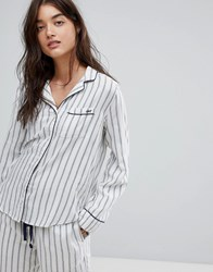 Abercrombie And Fitch Stripe Pyjama Top Blue White Multi
