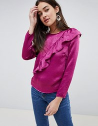 Girls On Film Blouse With Frill Detail Pink