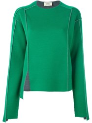 Ports 1961 Exposed Seam Sweater Green