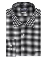 Van Heusen Tall Tek Fit Gingham Dress Shirt Smokey Grey