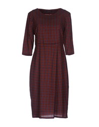 Laura Urbinati Knee Length Dresses Brown