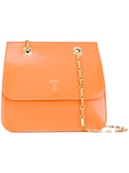 Mark Cross Francis Tote Women Leather One Size Yellow Orange