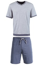 Schiesser Set Pyjamas Hellgrau Light Grey