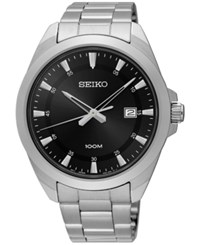 Seiko Men's Special Value Stainless Steel Bracelet Watch 42Mm Sur209 Silver