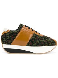 Marni Patterned Sneakers Brown