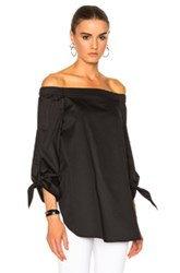 Tibi Off The Shoulder Tunic In Black