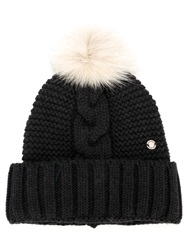 Woolrich Fur Pom Pom Hat Grey