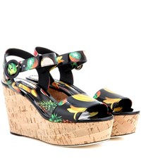 Dolce And Gabbana Cork Wedges Multicoloured