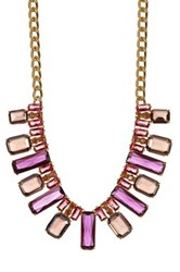 Carolee Nassau Nights Facted Stone Collar Necklace Yellow